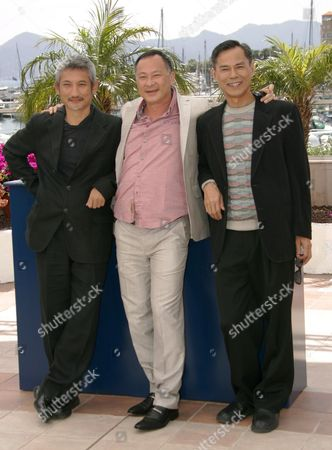 Chinese Directors (l-r) Ringo Lam Tsui Hark and Johnnie to Pose During a Photo Call For Their Film 'Triangle' Running out of Competition at the 60th International Film Festival in Cannes France 17 May 2007