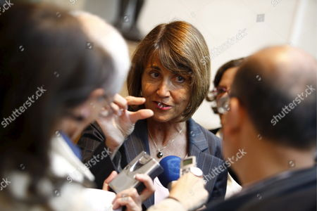 French Minister of Culture Christine Albanel Speaks to the Journalists at the Picasso Museum in Paris France 10 June 2009 French Police Announced 09 June That an Artist's Sketchbook Containing 33 Drawings and Valued in Some Eight Million Euros Has Being Stolen From the Premises It is not Known When the Theft Has Happened But It Was Discovered On 09 June by Museum Workers