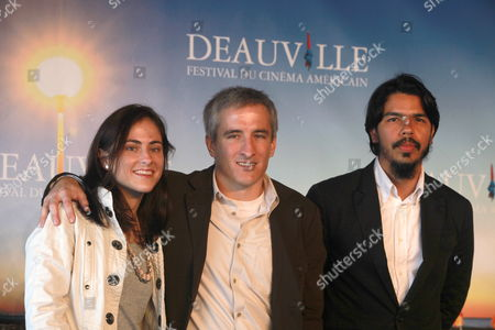 (l-r) Us Producer Catherine Davila Us Director Daniel Davila and Us Actor Octavio Gomez Berrios Pose During the Photocall Before the Screening of the Film 'Harrison Montgomery' During the 35th Deauville American Film Festival in Deauville France 07 September 2009 the Movie is Selected in the Official Competition at the Festival Running From 04 to 13 September 2009