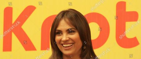 Indian Bollywood Actress Lara Dutta Addresses the Media in New Delhi India 15 September 2009 During a Promotional Event For Her Upcoming Movie 'Do Knot Disturb' by Indian Director David Dhawan