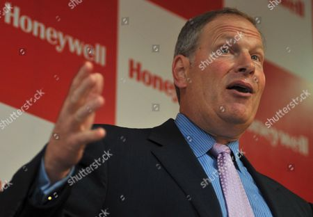 Honeywell Chairman and Chief Executive Officer Dave Cote Addressing the News Conference After Inaugurating Their New Facilities in Southern Indian City of Bangalore On 07 May 2009 the World's Largest Maker of Cockpit Electronics U S Manufacturer Honeywell International Inc Sees More Growth in India On Growing Demand For Its Products and Services Despite a Global Economic Downturn and Lauding the Exceptional Talent in the Sub-continent Its Chief Executive Dave Cote Said
