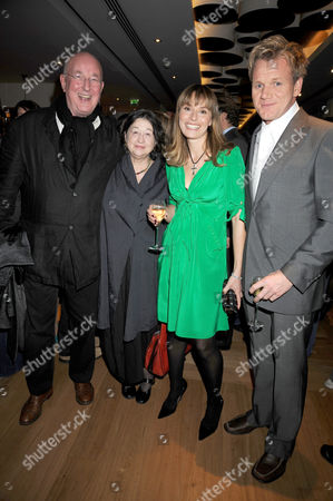Stock Image of Reg Gadney and wife Fay Maschler with Gordon Ramsay and wife, Tana