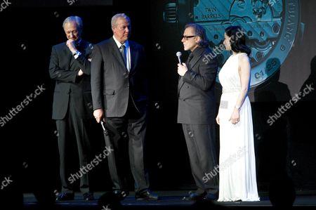 Lutz Bethge (CEO Montblanc International), Robert Wilson, Harvey Keitel, Dita von Teese