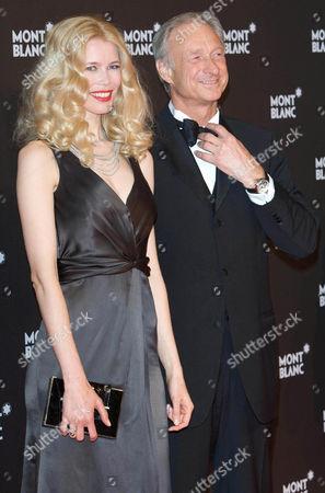 Claudia Schiffer, Lutz Bethge (CEO Mont Blanc International)
