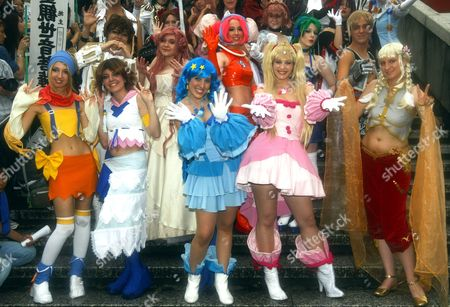 Contestants Pose For Photographers During a Cosplay Parade Held As Part of the World Cosplay Summit 2009 in Nagoya Western Japan 01 August 2009 (front Row L-r) Cecilia Albanese and Eva Turpin of France Laura Fernandez and Berenic Serrano of Spain and Elena D'ambrosio Valentina of Italy (back Row L-r) Katherine Lee and Gabriella Lowgren of Australia Elizabeth Licata and India Davis of Us and Marco Battistini of Italy Fifteen Pairs of Anime and Cosplay (costume Play) Fans Representing 15 Countries and Some 300 Japanese Cosplay Fans Have Gathered in Western Japanese City of Nagoya to Participate in the Contest the Contestants Will Perform and Compete in the Finals On 02 August to Become the World's Best Cosplayer 2009