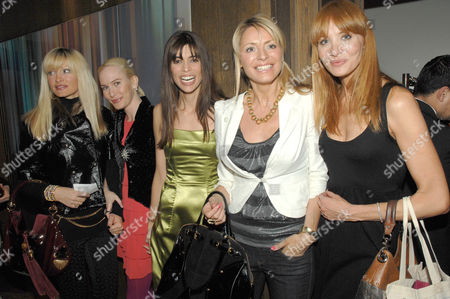 Caprice Bourret, Normandie Keith, Lisa B, Tess Daly, and Guest