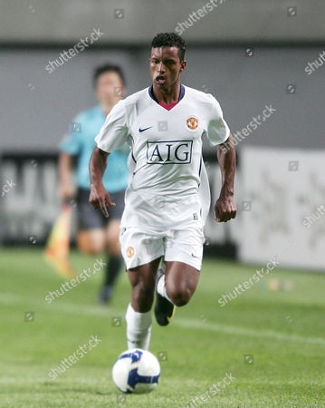 Manchester United Player Luis Carlos Almeida Da Cunha Controls the Ball During the Friendly Soccer Match Manchester United Vs Fc Seoul in the Sangam World Cup Stadium in Seoul South Korea July 24 2009 Manchester United Won 3-2