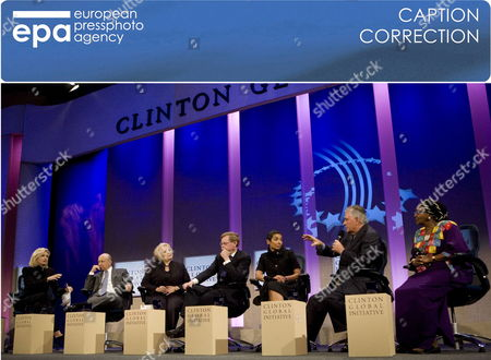Stock Image of Correction Name - Change Ngozi Okonjo-iweala to Edna Adan Ismail (l-r) Abc News Anchor Diane Sawyer Lloyd Blankfein Chairman and Ceo of Goldman Sachs Lloyd Blankfein Melanne Verveer Ambassador-at-large For Global Women's Issues Robert Zoellick President of the World Bank Zainab Salbi Founder and Ceo of Women For Women Rex Tillerson Chairman and Ceo Exxonmobile and Edna Adan Ismail Former Foreign Minister of Autonomous Somaliland During the Second Day of the Fifth Annual Clinton Global Initiative in New York New York Usa On 23 September 2009 the Annual Meetings Which Run From September 22 Through 25 Are Led by Bill Clinton to Address Poverty Health Climate Change and Other Worldwide Issues Drawing Activists and Political Leaders From Around the World