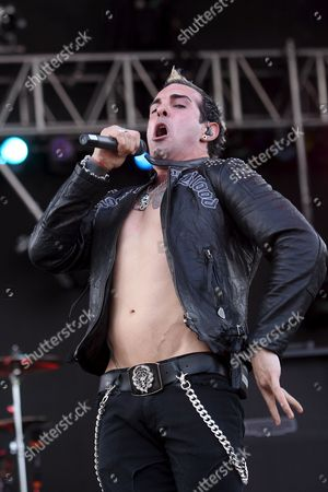 Rich Luzzi of the Us Rock Band Rev Theory Performs at the Rock On the Range Festival in Columbus Ohio Usa 16 May 2009