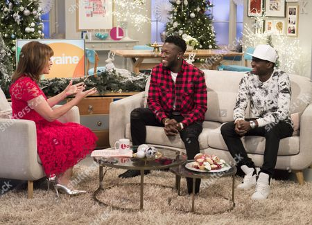 Lorraine Kelly with Reggie and Bollie