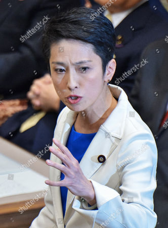 Leader of the Democratic Party, Renho Murata during the debate with party leaders at the Upper House of the Diet in Tokyo, Japan