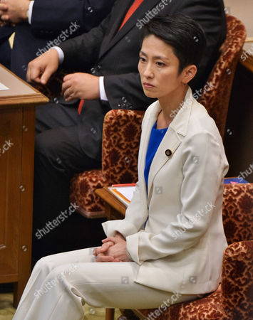 Leader of the Democratic Party, Renho Murata sits before the debate with party leaders at the Upper House of the Diet in Tokyo, Japan