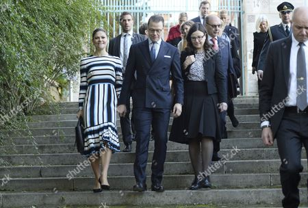 Crown Princess Victoria, Prince Daniel and Anna Ekstrom, Swedish Minister for Upper Secondary School and Adult Education and Training, visit to the Swedish Institute, Rome