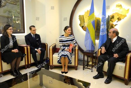 Anna Ekstrom, Swedish Minister for Upper Secondary School and Adult Education and Training, Prince Daniel, Crown Princess Victoria, Jose Graziano da Silva, director-general of FAO, visit to FAO, Food and Agriculture Organization of the United Nations, Rome