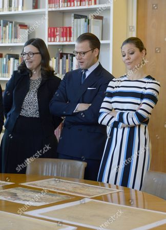 Anna Ekstrom, Swedish Minister for Upper Secondary School and Adult Education and Training, Crown Princess Victoria and Prince Daniel visit to the Swedish Institute, Rome