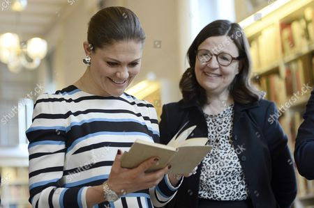 Crown Princess Victoria and Anna Ekstrom, visit to the Swedish Institute, Rome