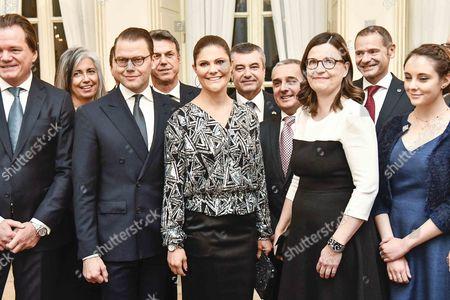 Stock Image of Prince Daniel, Anna Ekstrom and Crown Princess Victoria