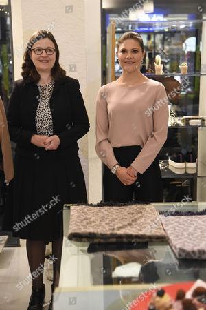 Stock Photo of Anna Ekstrom and Crown Princess Victoria