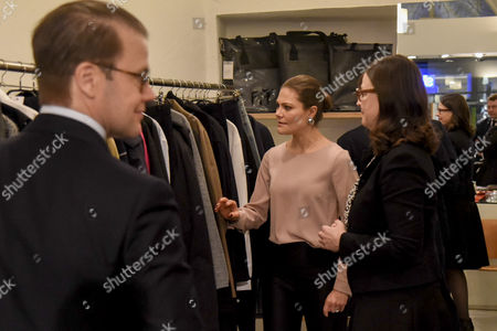 Stock Picture of Prince Daniel, Anna Ekstrom and Crown Princess Victoria