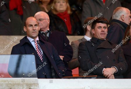 Sunderland's Chief Executive Martin Bain (left) and Commercial Director Gary Hutchinson during the Premier League match between Sunderland and Watford played at the Stadium of Light, Sunderland on 17th December 2016