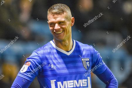 Gillingham defender Paul Konchesky (12) smiles during the EFL Sky Bet League 1 match between Gillingham and Milton Keynes Dons at the MEMS Priestfield Stadium, Gillingham