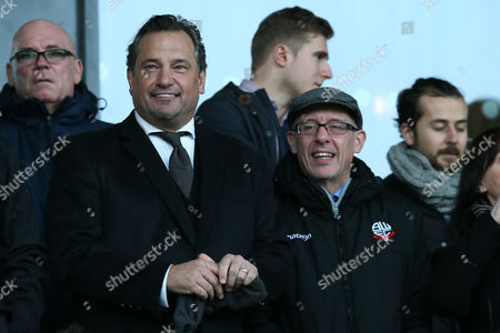 Bolton Wanderers director Dean Holdsworth and Football Secretary Simon Marland during the Sky Bet League One match between Chesterfield and Bolton Wanderers played at the Proact stadium, Chesterfield on 17th December 2016