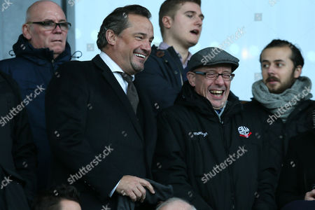 Stock Picture of Bolton Wanderers director Dean Holdsworth and Football Secretary Simon Marland during the Sky Bet League One match between Chesterfield and Bolton Wanderers played at the Proact stadium, Chesterfield on 17th December 2016