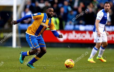 Stock Picture of Sylvan Ebanks-Blake of Shrewsbury Town runs with the ball