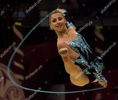 Caroline Weber of Austria Performs During the 23rd Rhythmic Gymnastics European Championships in Baku Azerbaijan 29 June 2007