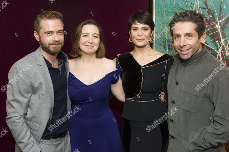 Rory Keenan (Steward/The Inquisitor), Josie Rourke (Director), Gemma Arterton (Joan) and Elliot Levey (Couchon)