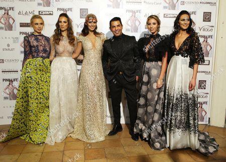 Raffaella Modugno, models, fashion designer Bruno Caruso