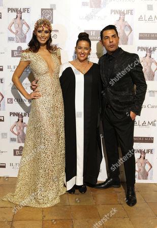 Raffaella Modugno, Linda Suarez, designer Bruno Caruso