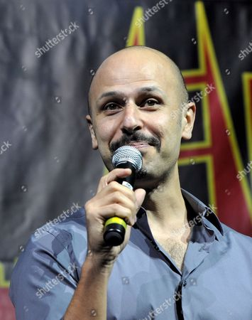 Iranian-american Actor and Comedian From the Acclaimed Us-based Comedy Show 'Axis of Evil' Maz Jobrani Performs a Stand-up Piece in Manama Bahrain 02 October 2008 Jobrani and Fellow Egyptian-american Comedian Ahmed Ahmed Both Presented Their First of Two Stand-up Performances