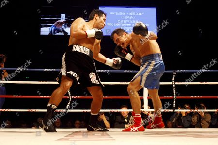 Marco Antonio Barrera (l) of Mexico Fights with Compatriot Samuel Ventura Alvarez in Their Lightweight Bout of the 2008 Wbc World Championship Boxing in Chengdu Sichuan Province China 07 November 2008 Barrera Won the Bout