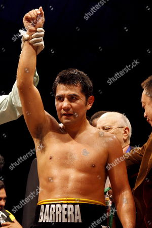 Marco Antonio Barrera of Mexico Celebrates After Defeating Compatriot Samuel Ventura Alvarez (not Pictured) in Their Lightweight Bout of the 2008 Wbc World Championship Boxing in Chengdu Sichuan Province China 07 November 2008 Barrera Won the Bout