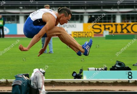 Tommi Evila of Finland Leaps During His Attempt in the Men's Long Jump Final at the 10th Iaaf World Championships in Athletics Helsinki Finland Saturday 13 August 2005