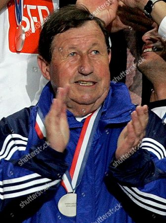 France Soccer Legendary Coach of Aj Auxerre Guj Roux Guj Celebrates the Victory in France Cup Final Match in Paris Saturday 04 June 2005 France's Longest-serving Manager Guy Roux is to Stand Down After 44 Years in Charge Club President Jean-claude Hamel Announced Today Sunday 05 June 2005 Epa/srdjan Suki