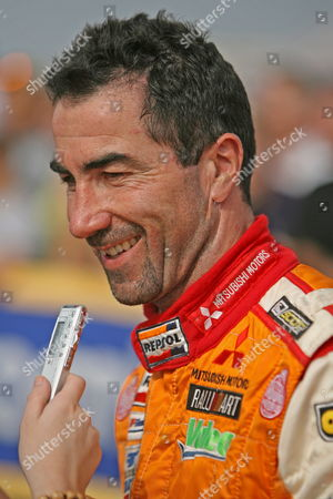 Driver Luc Alphand From France Speaks to the Media After Reaching Dakar Senegal Saturday 20 January 2007 Driver Alphand and Navigator Gilles Picard Are in Second Place Overall Going Into Sundays Final Stage of the Race