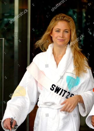 Miss Universe 2005 Contestant Fiona Hefti of Switzerland Wears Her Bathrobe As She Walks to the Swimsuit Photo Session in Bangkok Thailand Tuesday 17 May 2005 81 Beauty Queens Are in the Thai Capital to Compete For the Most Coveted Beauty Title of the World in Thailand On Tuesday 31 May 2005