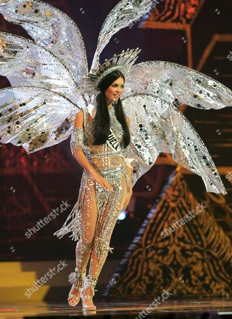 Miss Universe 2005 Contestant Monica Spear From Maracaibo Venezuela During the National Costume Competition in Bangkok On Wednesday 25 May 2005 the Final Decision Who Will Become Miss Universe 2005 Will Be Announced in Bangkok On May 31 Wears Her National Costume Entry During the National Dress Presentation in the Miss Universe 2005 Competition at Impact Arena in Bangkok Thailand Wednesday 25 May 2005 Women Representing 81 Nations Are Competing For the Miss Universe 2005 Title Held by 2004 Winner Australian Jennifer Hawkins the Finals of the Event Are to Be Held On 31 May in Bangkok