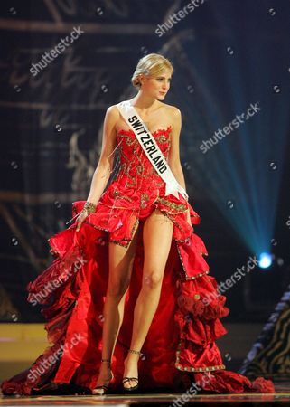 Miss Universe 2005 Contestant Fiona Hefti From Switzerland During the National Costume Competition in Bangkok On Wednesday 25 May 2005 the Final Decision Who Will Become Miss Universe 2005 Will Be Announced in Bangkok On May 31 Wears Her National Costume Entry During the National Dress Presentation in the Miss Universe 2005 Competition at Impact Arena in Bangkok Thailand Wednesday 25 May 2005 Women Representing 81 Nations Are Competing For the Miss Universe 2005 Title Held by 2004 Winner Australian Jennifer Hawkins the Finals of the Event Are to Be Held On 31 May in Bangkok