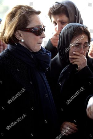 Ahmet Ertegun's Wife Mica Ertegun (l) Mourns During Her Husband's Funeral at a Mosque in Istanbul Turkey On Monday 18 December 2006 Ahmet Ertegun the Music Magnate Who Founded Atlantic Records and Shaped the Careers of John Coltrane Ray Charles the Rolling Stones Led Zeppelin and Many Others Died On 14 December in Manhattan He Was 83