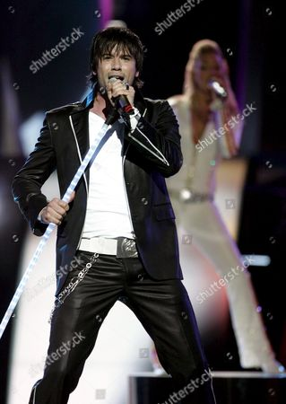 Martin Stenmarck From Sweden Performs the Song 'Las Vegas' During Dress Rehearsals On the Eve of the Eurovision Song Contest Finals in Kiev On Friday 20 May 2005
