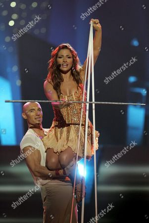 Helena Paparizou From Greece Performs the Song 'My Number One' During Eurovision Song Contest in Kiev Saturday 21 May 2005