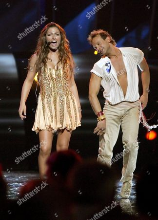 Helena Paparizou From Greece Performs the Song 'My Number One' As Winner of Eurovision Song Contest After the Awarding Ceremony in Kiev Saturday 21 May 2005