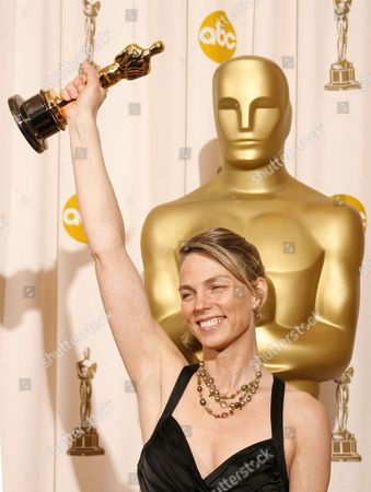 Torill Kove Holds Up Her Oscar For Best Animated Short Film For 'The Danish Poet' at the 79th Annual Academy Awards at the Kodak Theatre in Hollywood California Sunday 25 February 2007
