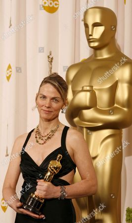 Torill Kove Holds Her Oscar For Best Animated Short Film For 'The Danish Poet' at the 79th Annual Academy Awards at the Kodak Theatre in Hollywood California Sunday 25 February 2007