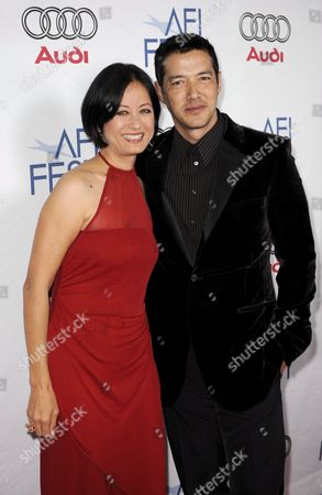 Chinese Actress Julia Nickson (l) and Us Actor Russell Wong Arrives For the Afi Fest Tribute to Tilda Swinton in Hollywood California Usa 05november 2008 the Afi (american Film Institute) Fest Honoured British Actress Swinton with a Showing of a Selection of Film Clips From Her Distinguished Career