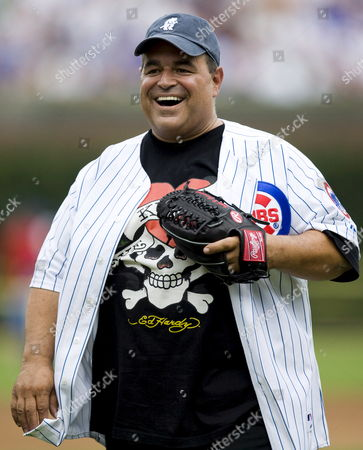 'The Sopranos' Star Joe Gannascoli Laughs After Throwing out the Ceremonial First Pitch Before the Start of the San Francisco Giants - Chicago Cubs Baseball Game at Wrigley Field in Chicago Illinois Usa 18 July 2007