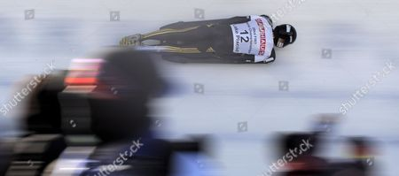Michi Halilovic of Germany Takes a Curve During the Third Run of the Men's Skeleton at the Fibt Bobsleigh & Skeleton World Championships in Lake Placid New York Usa 28 February 2009 Lake Placid is the Site of Both the Fil and Fibt World Championships in 2009
